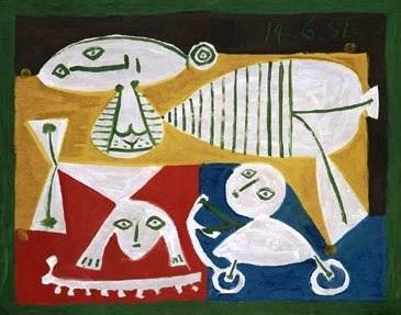 Nai e nenos xogando. Musée Picasso - Antibes Juan-les-Pins